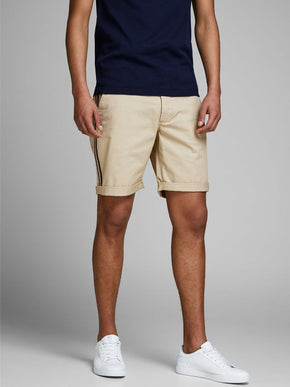 TAPE DETAIL CHINO SHORTS