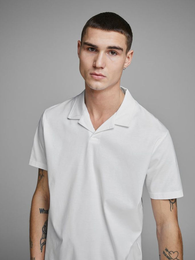 CUBAN COLLAR POLO WHITE