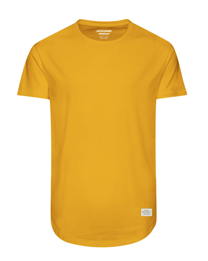LONG CURVED T-SHIRT YOLK YELLOW