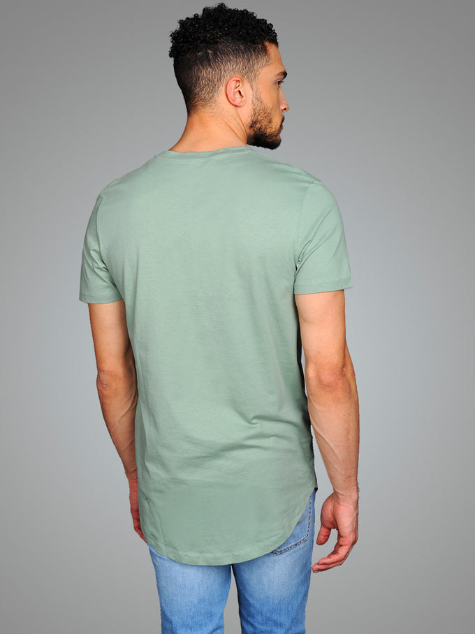 LONG CURVED T-SHIRT GREEN BAY