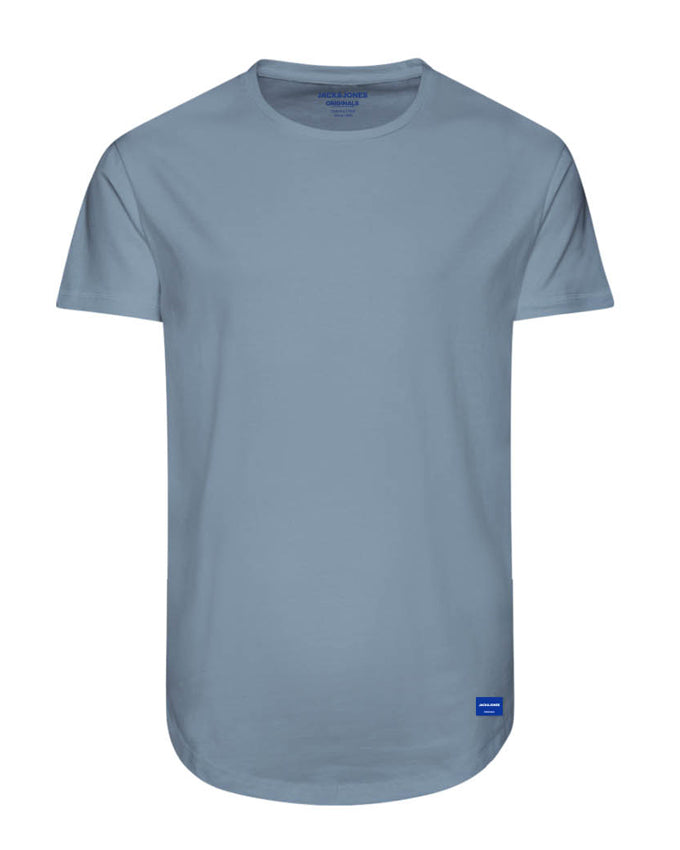 LONG CURVED T-SHIRT FORGET-ME-NOT
