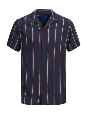 SHORT SLEEVE SHIRT WITH THIN STRIPES
