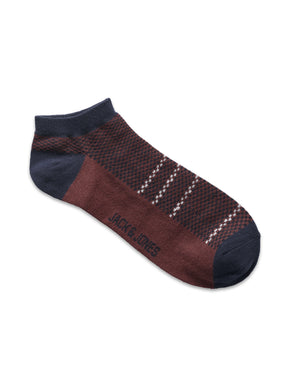 SQUARE PATTERNED SHORT SOCKS