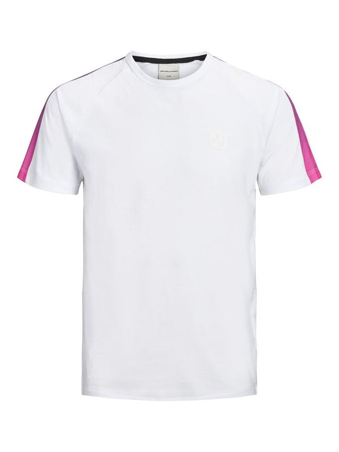 CORE T-SHIRT WITH GRADIENT STRIPES WHITE