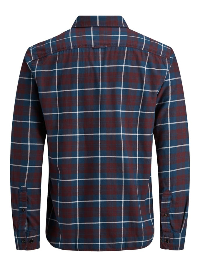 ESSENTIALS CHECKERED FLANNEL SHIRT PORT ROYALE