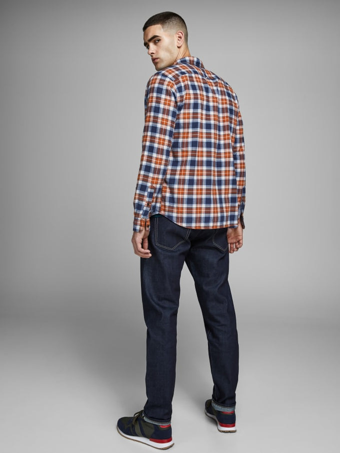 ESSENTIALS CHECKERED FLANNEL SHIRT UMBER