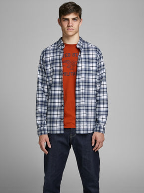 ESSENTIALS CHECKERED FLANNEL SHIRT