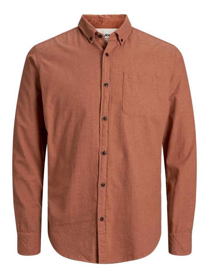 MELANGE SLIM FIT SHIRT UMBER
