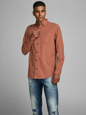 MELANGE SLIM FIT SHIRT
