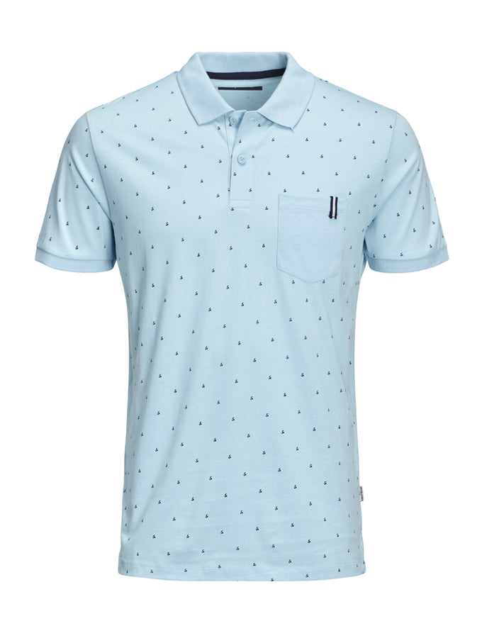 CORE POLO WITH AMPERSAND PRINT GULF STREAM