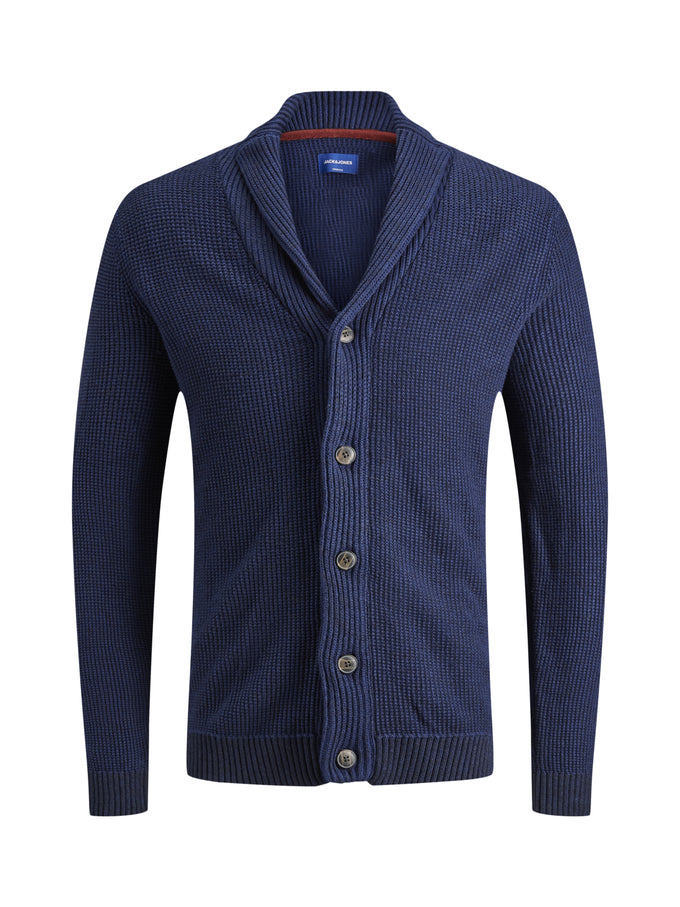 SHAWL COLLAR ORIGINALS CARDIGAN BLUE DEPTHS