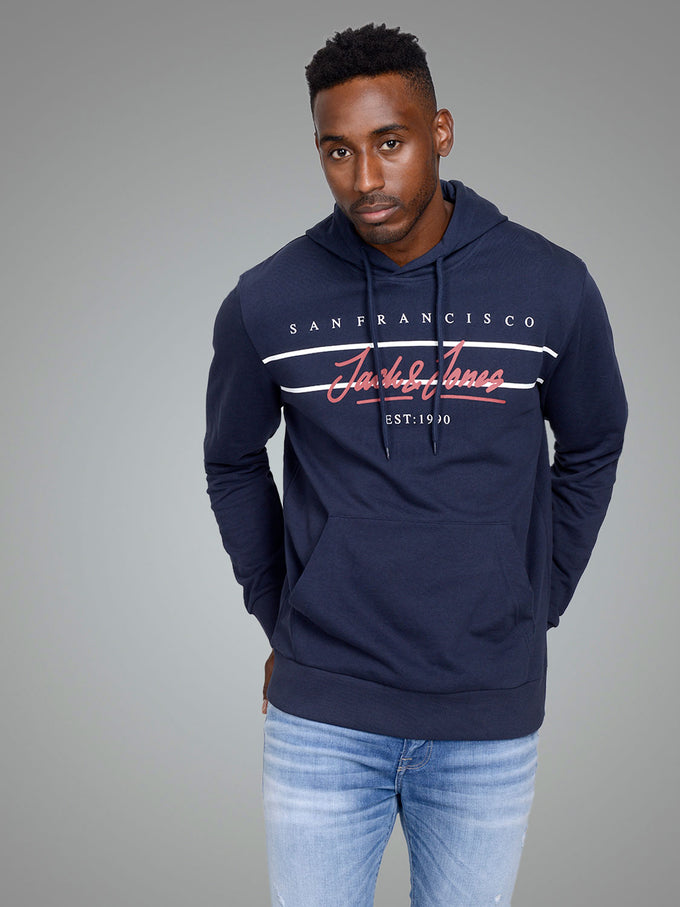 CITY PRINT HOODIE TOTAL ECLIPSE