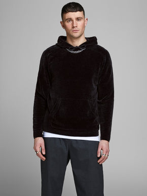 CHENILLE STYLE KNIT HOODIE