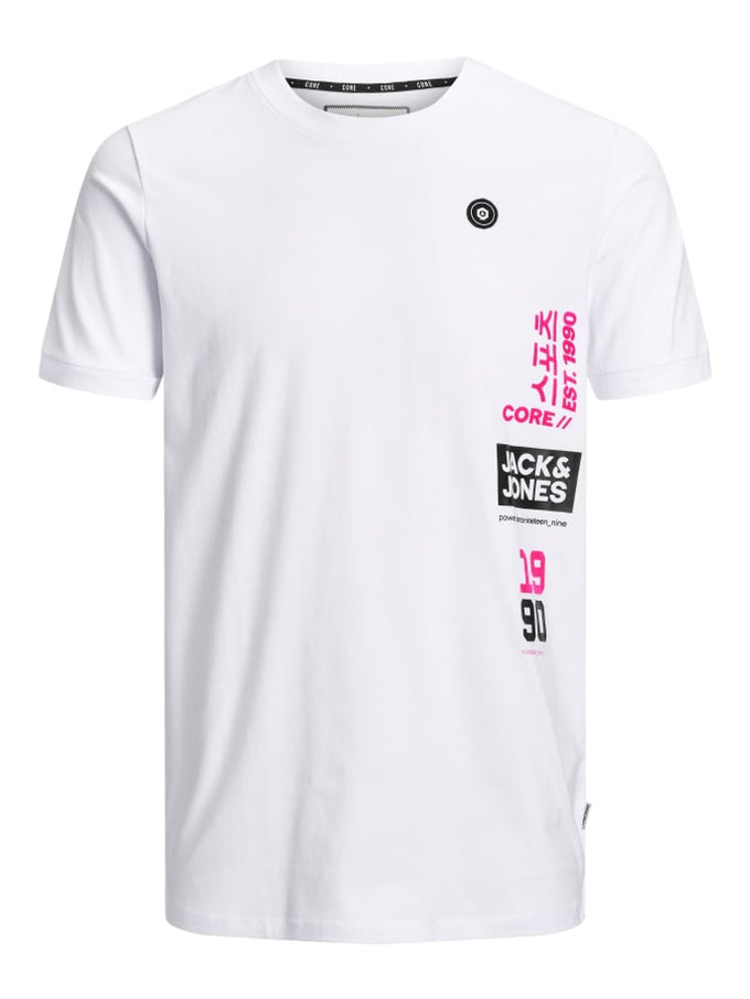 ASIA INSPIRED LONG FIT T-SHIRT WHITE