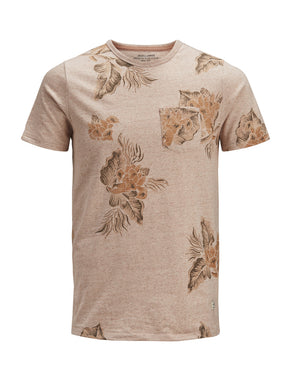 FINAL SALE - HEATHERED FLORAL PREMIUM T-SHIRT