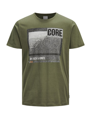 CORE T-SHIRT WITH SPECKLED PRINT