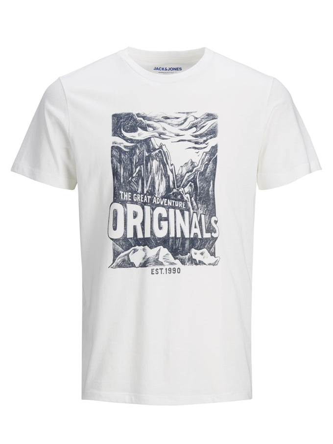 WILD PRINT ORIGINALS T-SHIRT CLOUD DANCER