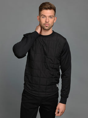 CORE SWEAT WITH QUILTED BODY