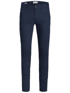 NAVY BLUE SKINNY FIT CHINO PANTS