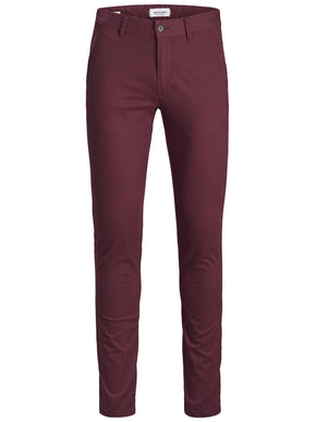PANTALON BOURGOGNE CHINO COUPE SKINNY