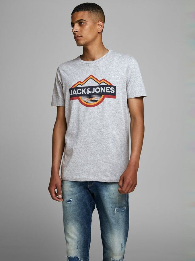 MOUNTAIN ORIGINALS T-SHIRT LIGHT GREY MELANGE