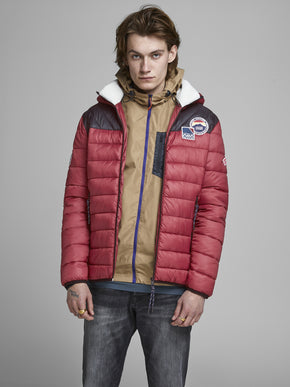 FINAL SALE - PUFFER JACKET WITH TEDDY LINING