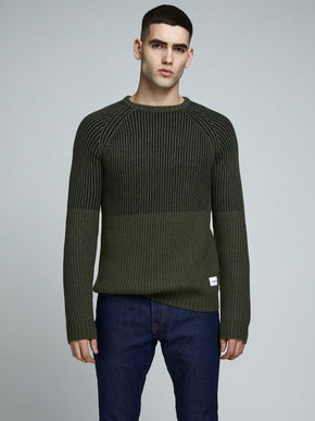 CHUNKY COLOURBLOCK KNIT