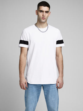 LONG FIT T-SHIRT WITH SIDE STRIPES