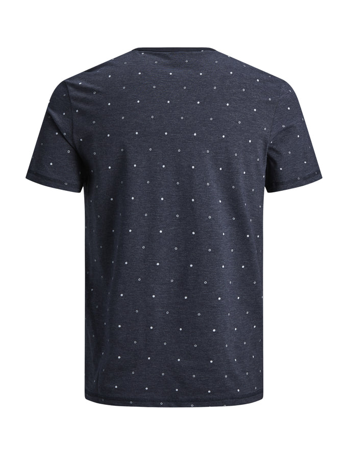 STRETCHY DOTTED PRINT T-SHIRT SKY CAPTAIN