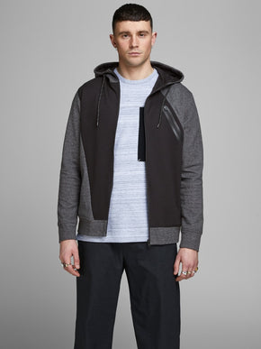 TWO-TONE ATHLETIC ZIP-UP HOODIE