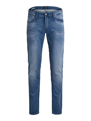 GLENN 851 INDIGO KNIT SLIM FIT STRETCH JEANS