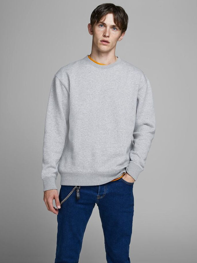 ESSENTIAL SOFT SWEATSHIRT LIGHT GREY MELANGE