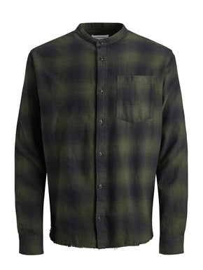 SLASH MANDARIN COLLAR SHIRT