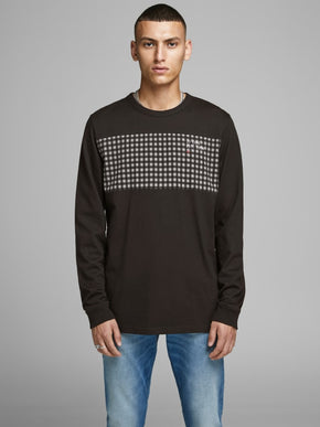 CHECK LONG SLEEVE CORE T-SHIRT