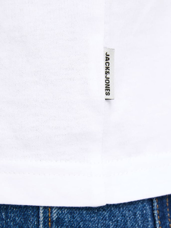 CHECK SHORT SLEEVE CORE T-SHIRT WHITE