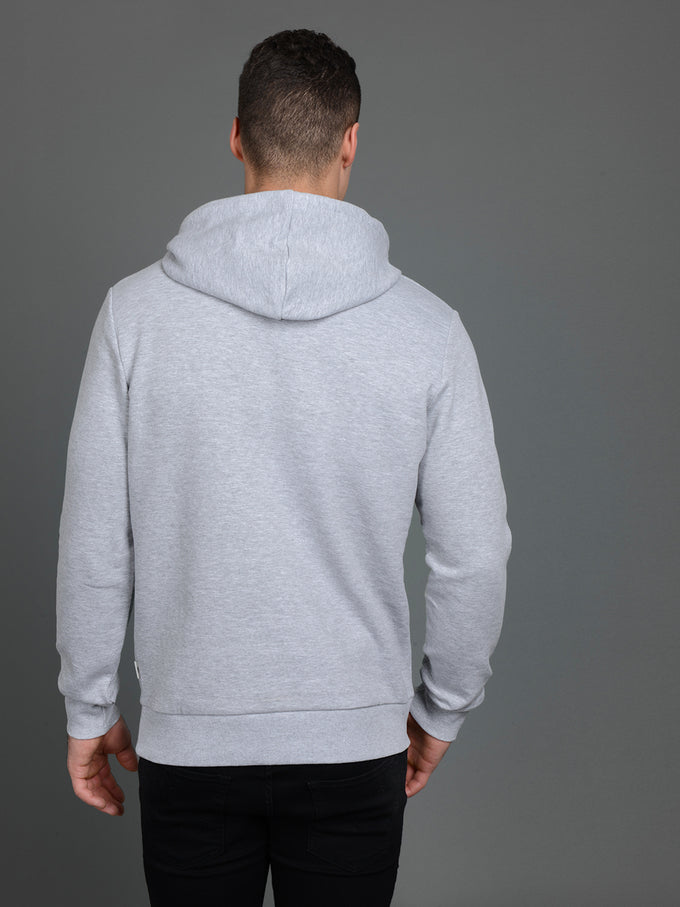 GLEN HOODIE LIGHT GREY MELANGE