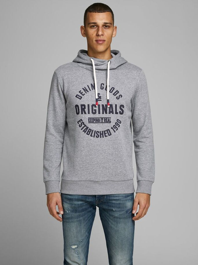 BRANDON HOODIE LIGHT GREY MELANGE