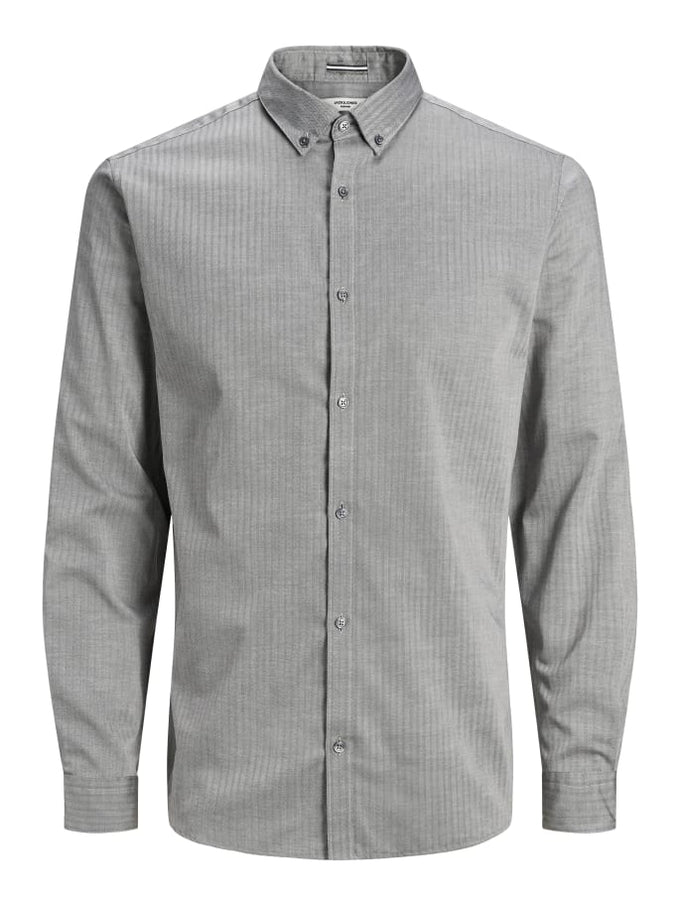FOCUS SLIM FIT SHIRT GREY MELANGE