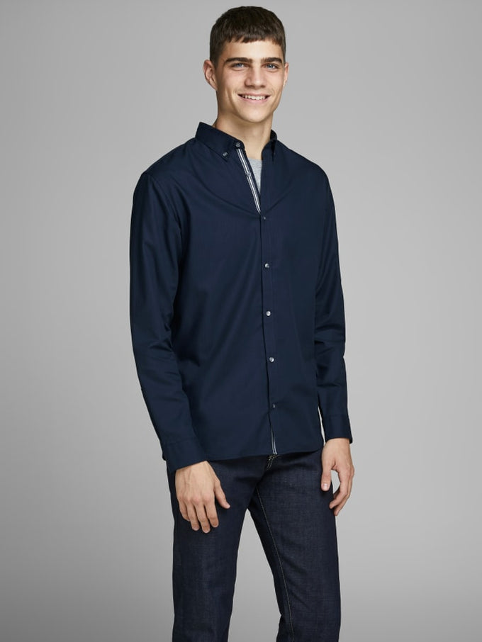 FOCUS SLIM FIT SHIRT NAVY BLAZER