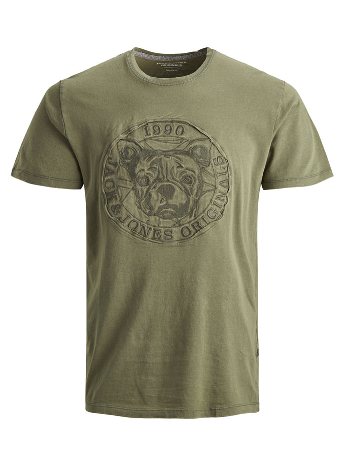 DOG SHORT SLEEVE T-SHIRT DUSTY OLIVE