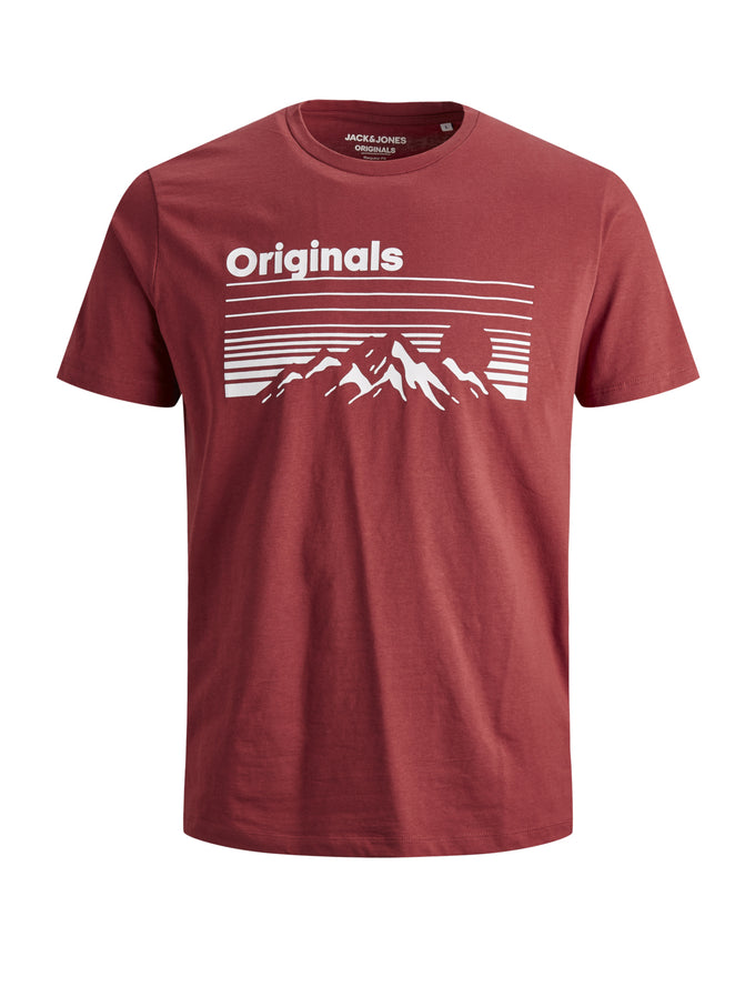 NASHVILLE SHORT SLEEVE T-SHIRT BRICK RED