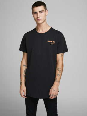 LONG FIT CORE T-SHIRT ORANGE DETAILS