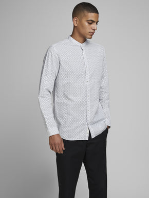 SUMMER BAND MANDARIN COLLAR SHIRT