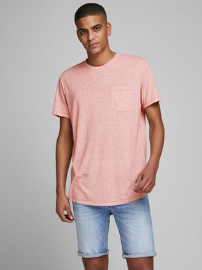 HEATHERED LINUS LONG FIT T-SHIRT