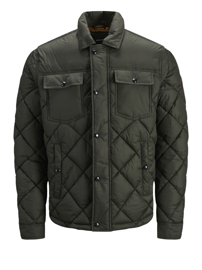 ALBERT QUILTED JACKET FOREST NIGHT