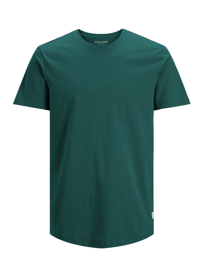 NOA LONG FIT CURVED T-SHIRT TREKKING GREEN
