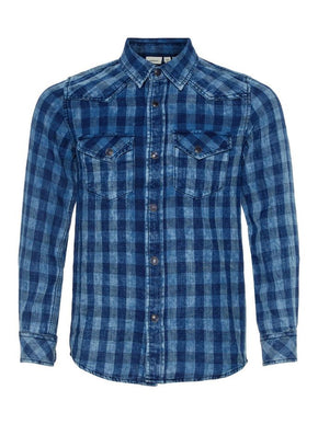 WASHED STYLE CHECKERED SHIRT