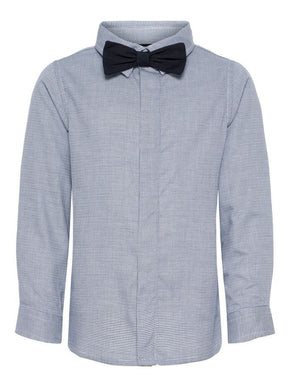 LONG SLEEVE SHIRT WITH REMOVABLE BOW TIE