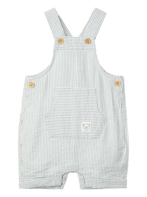 STRIPED BABY OVERALL