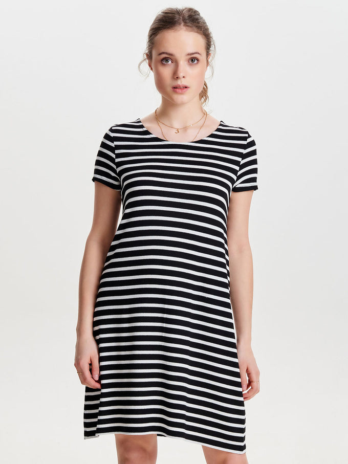 JERSEY T-SHIRT-DRESS BLACK